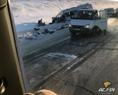 Фото: два авто из Кузбасса разбились в Новосибирской области, есть погибший