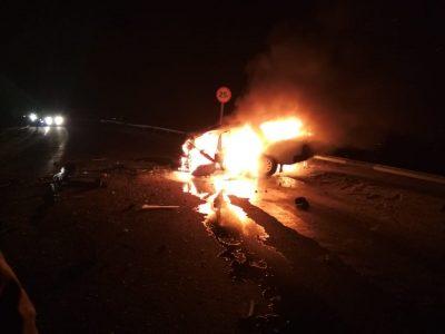 В Кузбассе водитель заживо сгорел за рулём