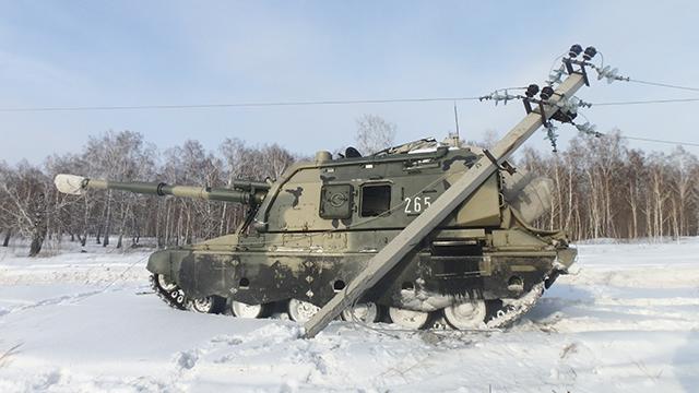 Фото: в Кузбассе самоходная артиллерия оставила без света целый посёлок