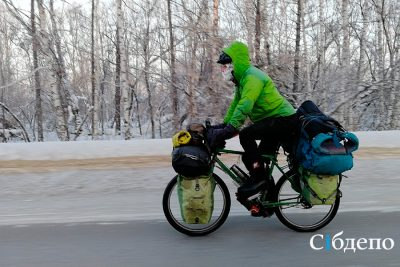 Стало известно, откуда в кузбассе взялся иностранный велосипедист