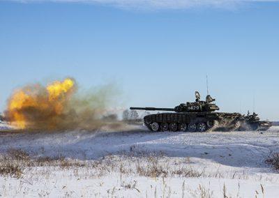 Кузбасские танкисты оттачивают боевое мастерство