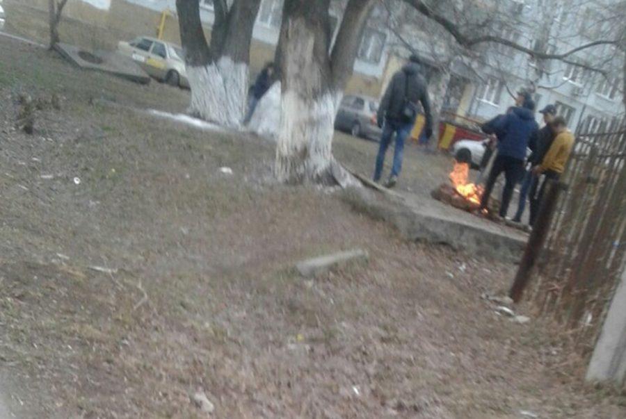 Фото: в Кемерове заметили поджигателей